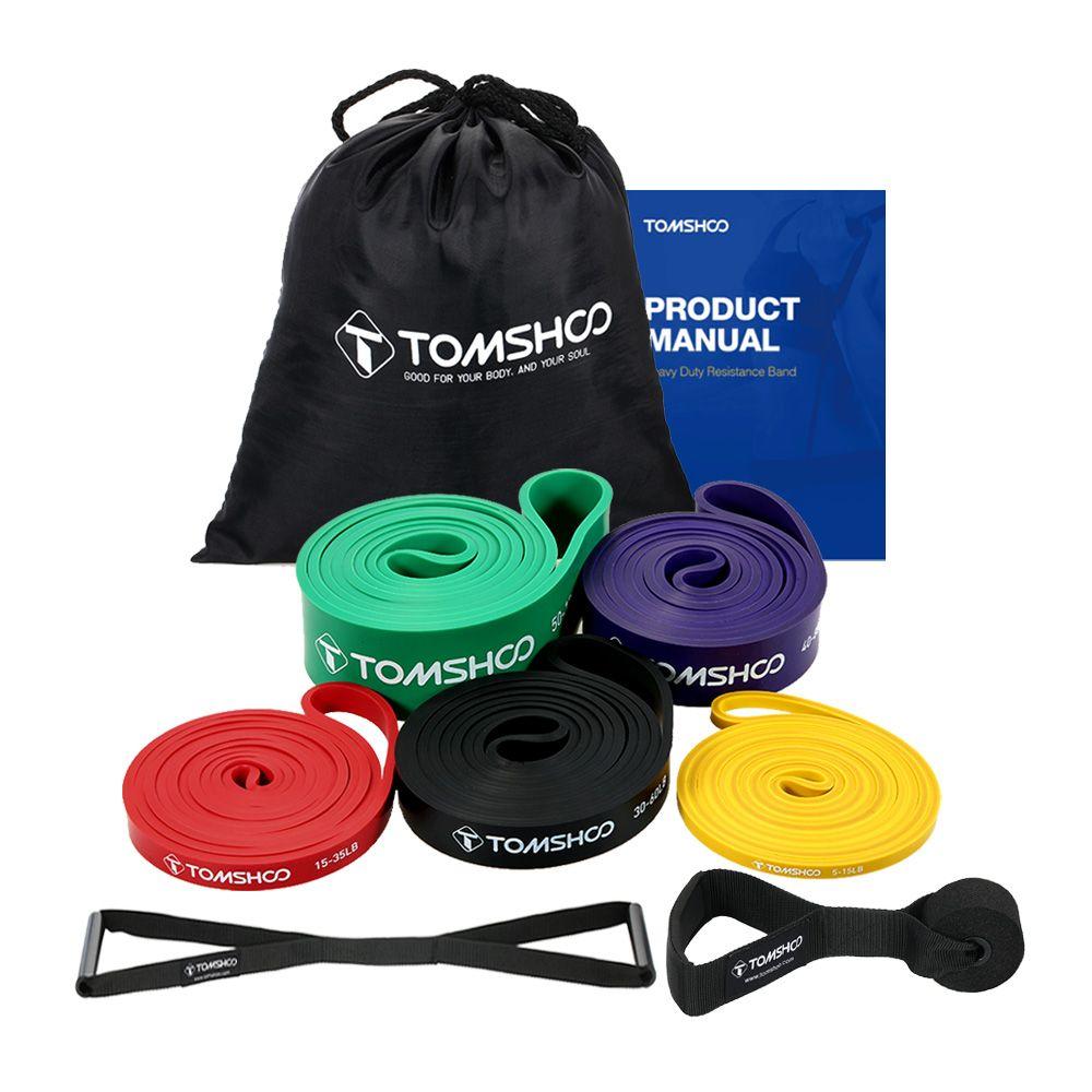 TOMSHOO Widerstand Bands Elasticas para ejercicio pull up assist Bands Elastische für Fitness Training Sport Übung Ausrüstung