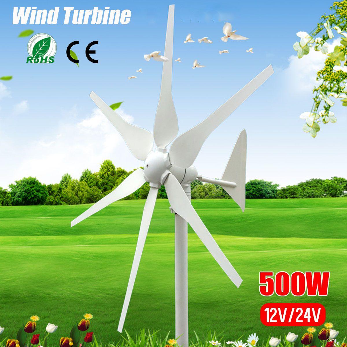 2019 DC 12 V/24 V 500 W 6 Klingen Miniatur Windkraftanlagen Wohn Hause Wind Turbinen Generator Mit gebaut in Controller für Home