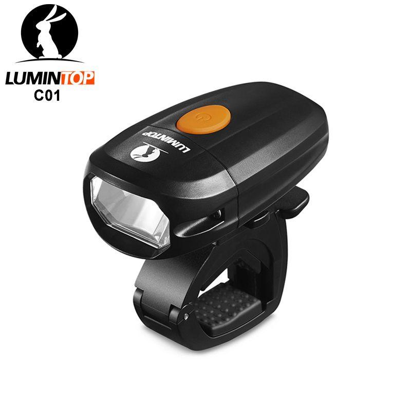 Lumintop C01 éclairage vélo conçu pour vélo urbain usb rechargeable vélo phare anti-éblouissement et étanche IPX8 vélo torche