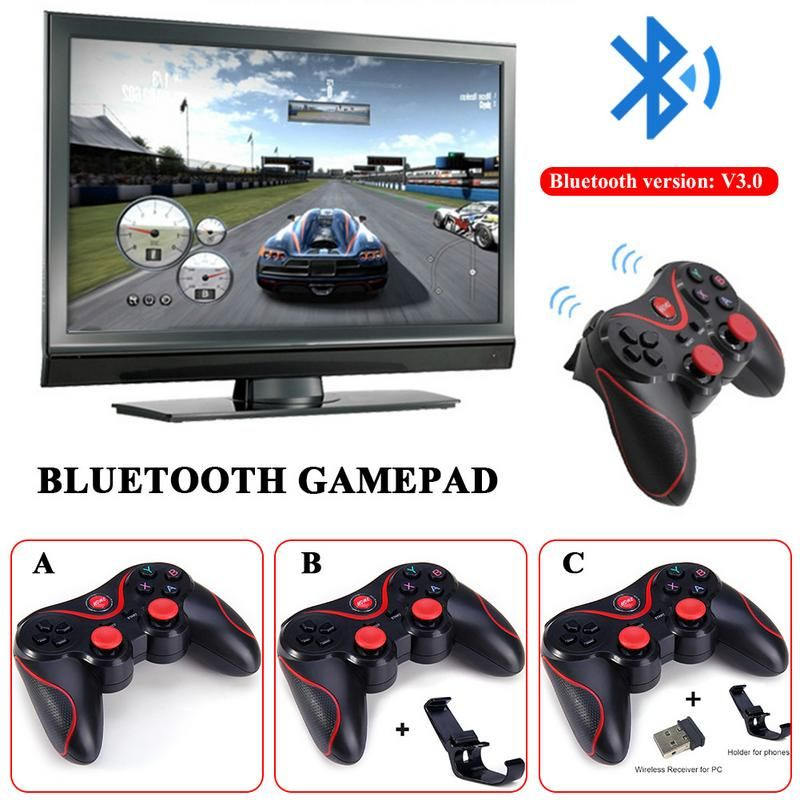 For T3 S3 S5 PS3 Bluetooth Wireless Gamepad Android S600 STB S3VR Games Controller New Joystick For Android iOS Mobile Phones PC