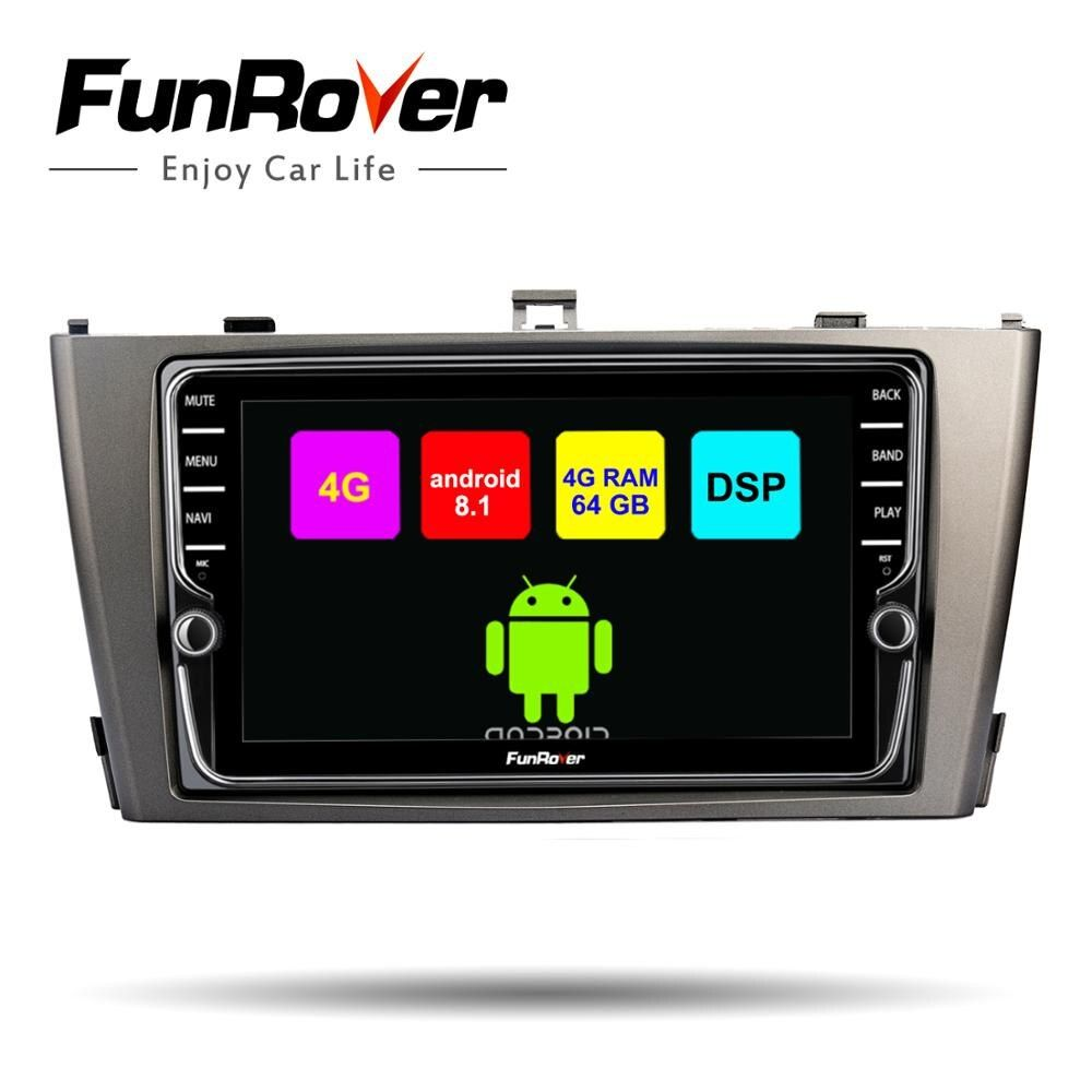 Funrover 8 kerne Android 8.1 Auto dvd-multimedia-player Für Toyota Avensis 2009-2013 4G + 64G Auto radio stereo gps navigation DSP