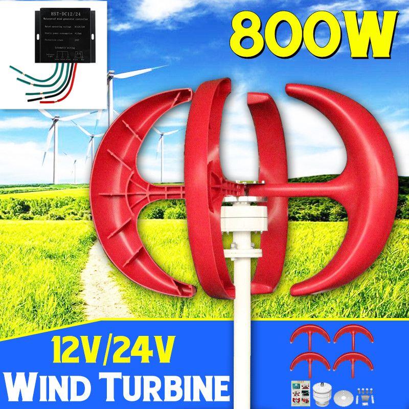 800 W Windkraftanlagen + Controller 12 V 24 Volt 4 Klinge Horizontale Hause Wind Generator Power Windmühle Energie Turbinen ladung