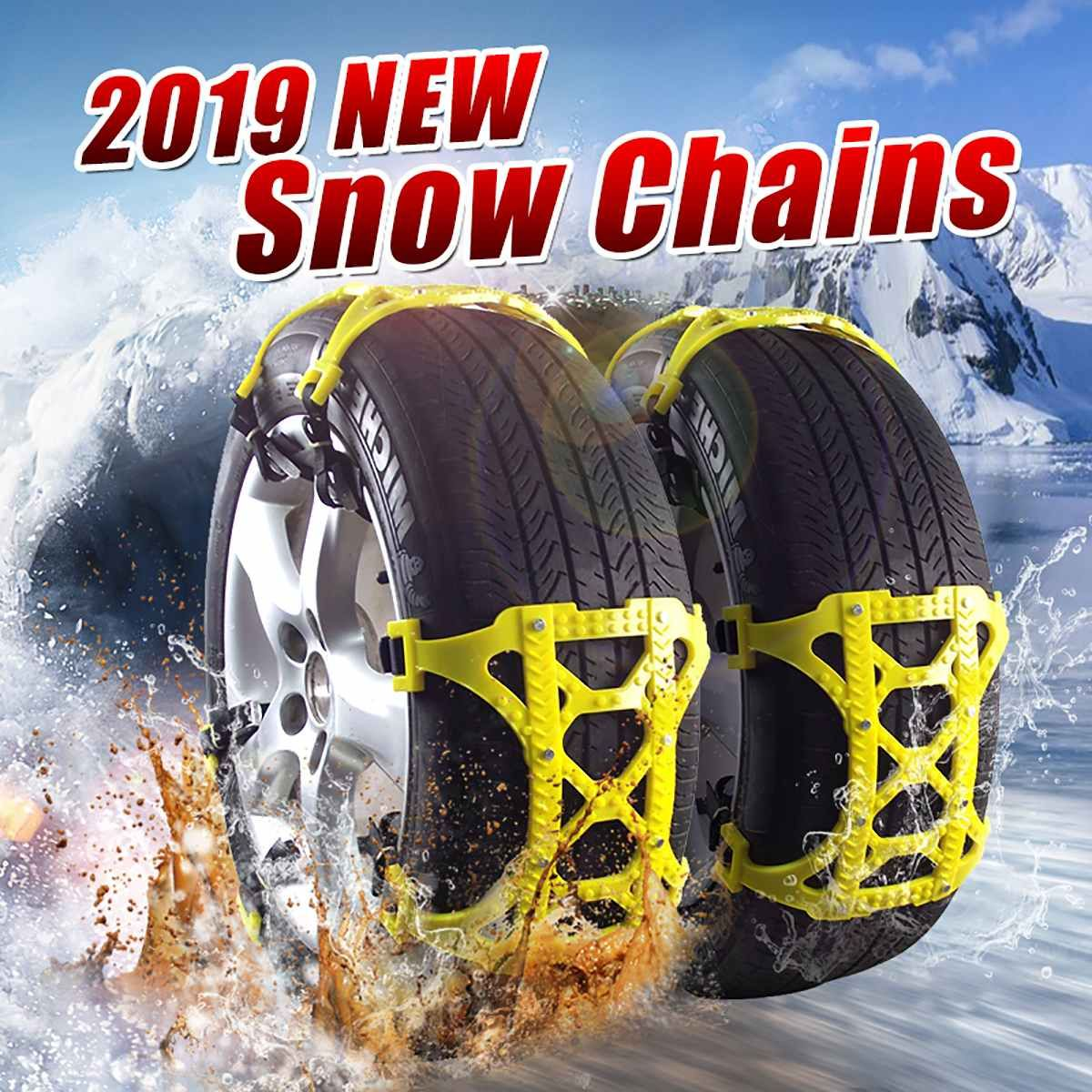 6pcs TPU Snow Chains set Universal Car Suit Tyre Winter Roadway Safety Tire Chains Snow Climbing Mud Ground Anti Slip