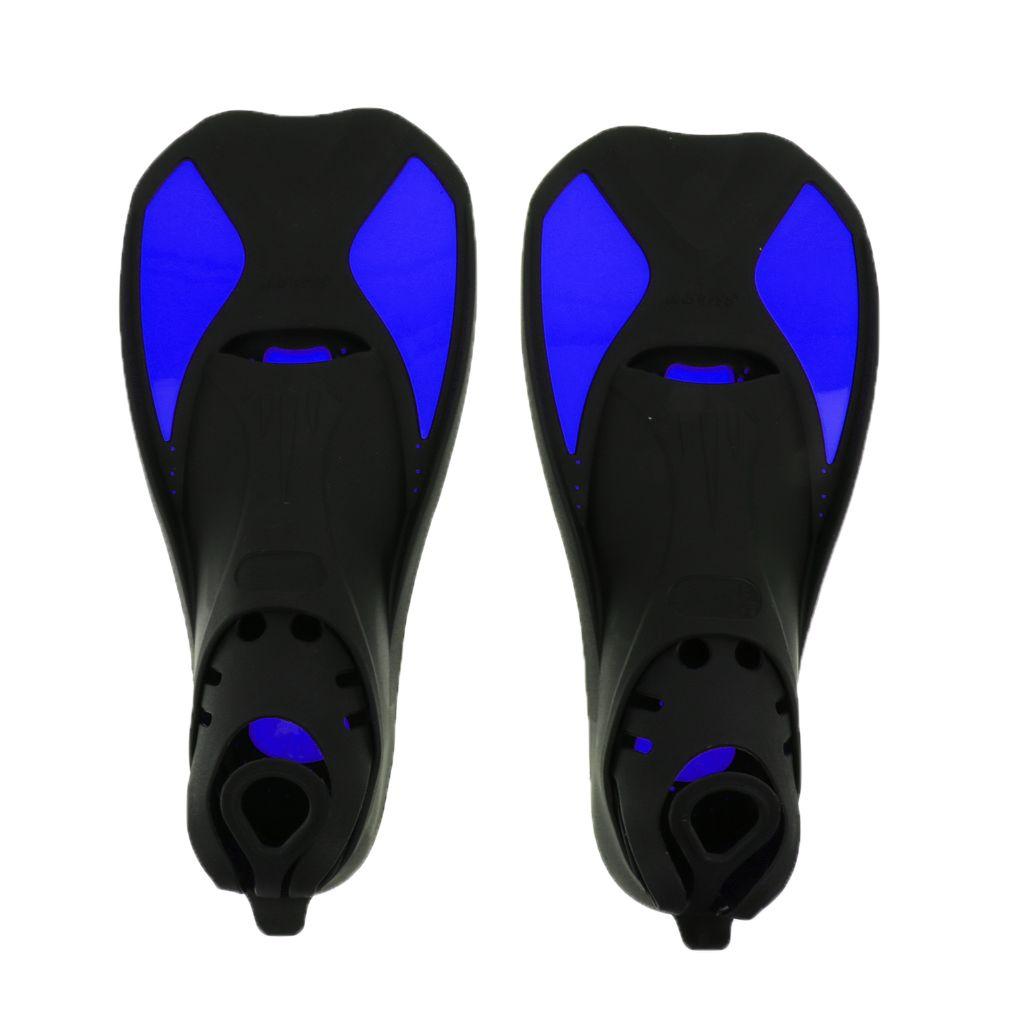 XXS/XS/S/M/L/XL Children Adult TPR Flippers Swimming Fins Snorkel Scuba Swimming Diving Beginners Training Learning Aids