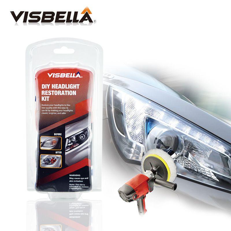 Visbella Projecteur Azurant Kit DIY de restauration des phares pour voiture tête lampe lentilles Nettoyage En Profondeur tête lumière pâte À Polir meilleur