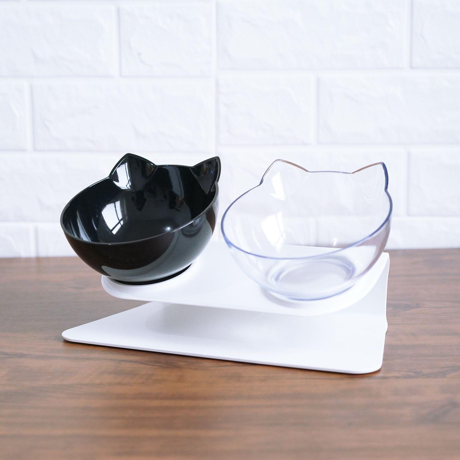 Bols à chat antidérapants bols doubles avec support surélevé nourriture pour animaux de compagnie et bols à eau pour chats chiens mangeoires chat bol fournitures pour animaux 29