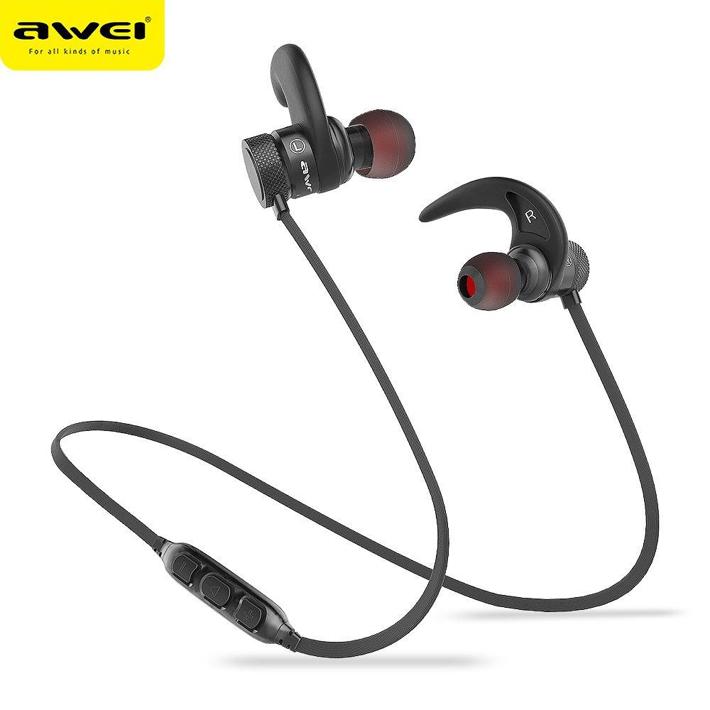 AWEI A920BLS Bluetooth écouteur sans fil Casque basse Sport Bluetooth Casque Auriculares Casque sans fil 10 h musique