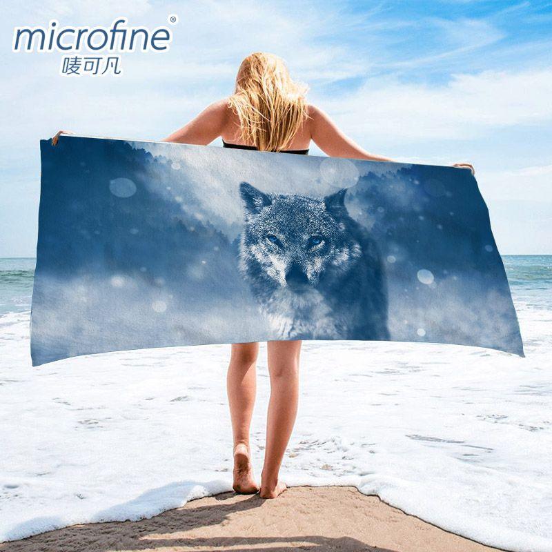 Séchage rapide serviette de plage 70x140 cm poids léger microfibre serviette de bain Gym voyage Sauna Yoga tapis couverture extérieure serviette Anti sable