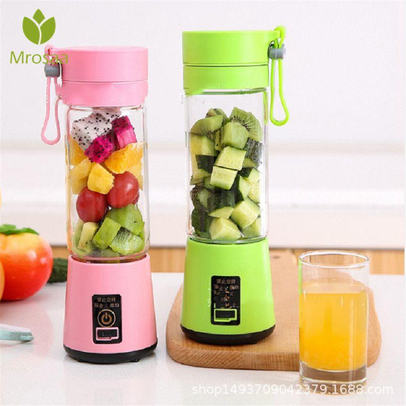 400 ml Portable mélangé presse-agrumes tasse USB Rechargeable mélangeur bouteilles électrique automatique légumes fruits agrumes Orange jus fabricant tasse