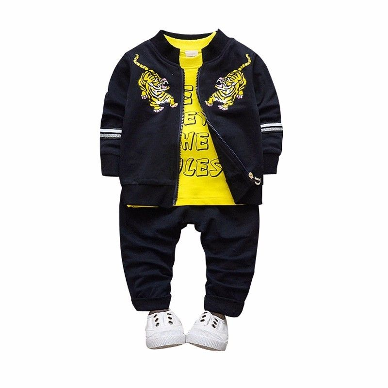 2018 Newborn Baby Boys Girl Clothes Spring Autumn T shirt Coat Pants 3PCS/Sets Outfits Kids Jogging Suits Childrens Tracksuits