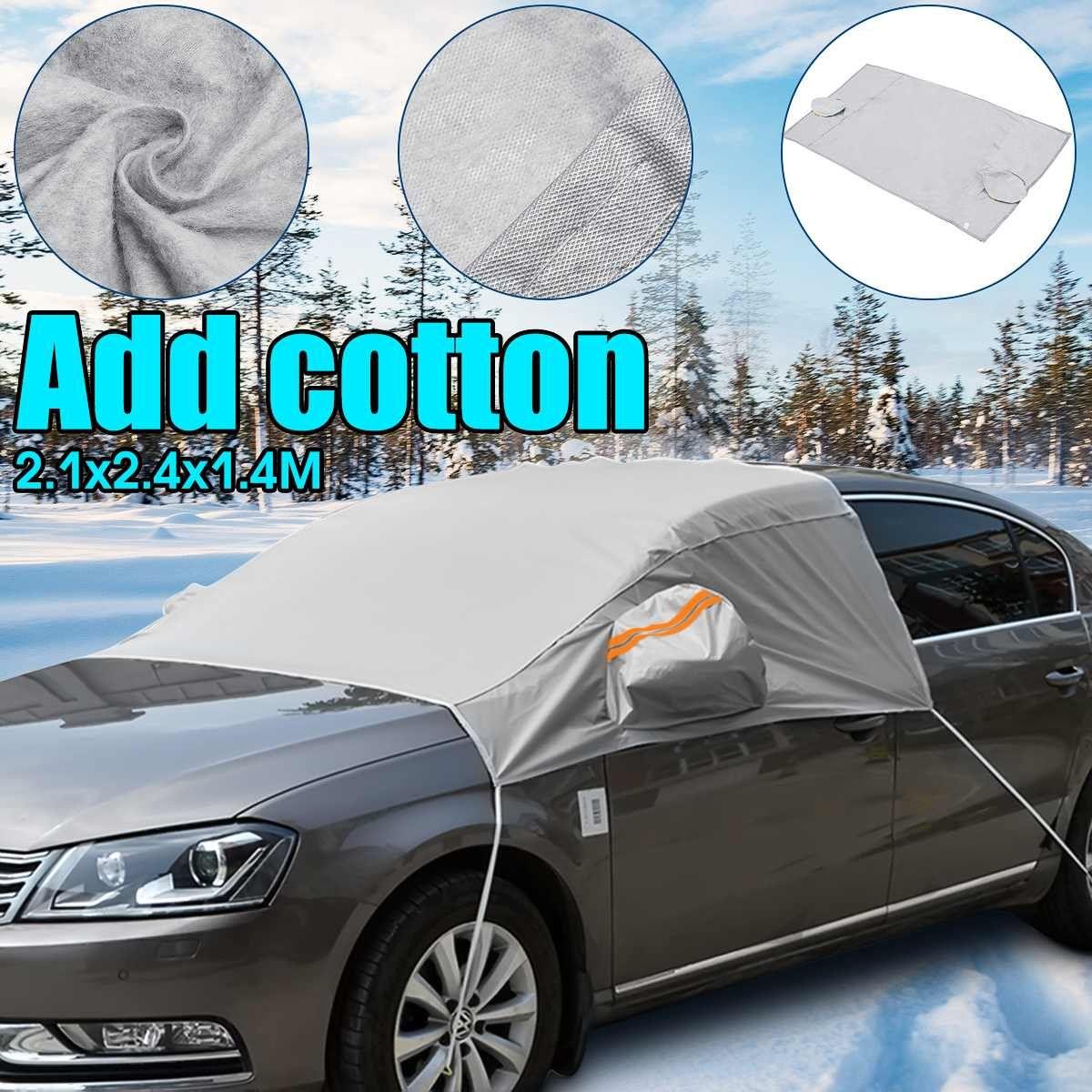 240 cm x 200 cm x 147 cm Universal Auto Front Fenster Windschutz Deckt Sonnenschirm Abdeckung Schnee UV Eis Schild für Windschutzscheibe Winter Sommer