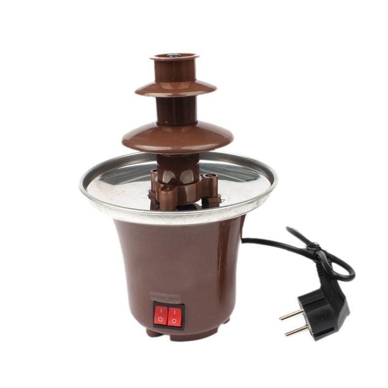 Top Verkauf Mini Schokolade Fondue, Elektrische Edelstahl Fondue Topf Schokolade Schmelzen Maschine Tauch Dessert Obst Butter Che