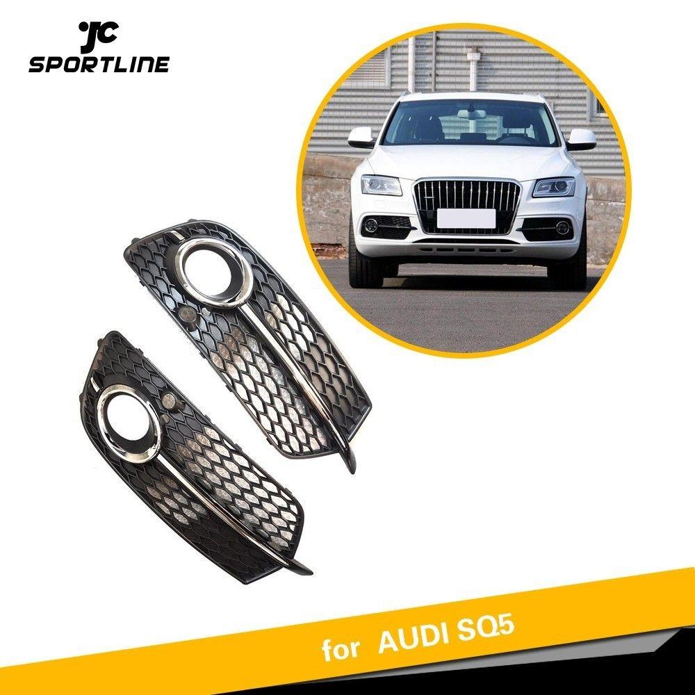 ABS Nebel lampe kühlergrill Für Audi Q5 S-Linie SQ5 Sport 2014-2017 4 Tür Frontschürze Grill ABS nebel licht box