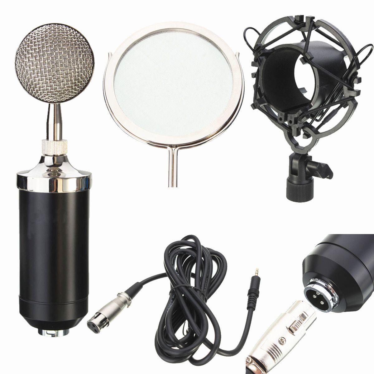 LEORY Professional Sound Dynamische Kondensator Mic Studio Audio Aufnahme Kondensator Mikrofon für Rundfunk KTV Singen