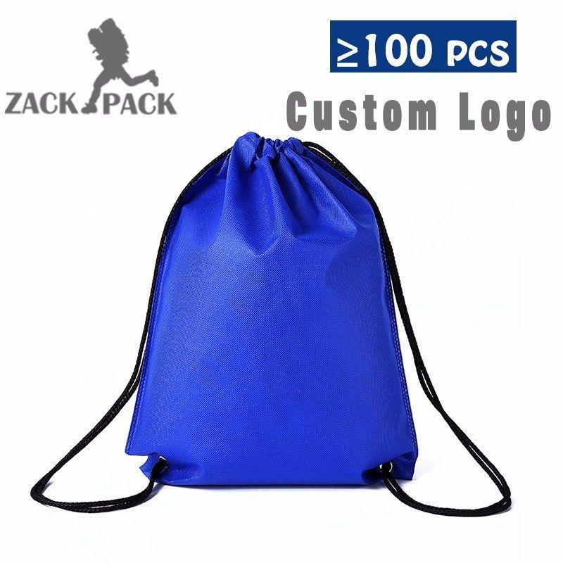 Zackpack 5 pièces sacs à cordon Logo personnalisé pochette étanche sac à dos tirer corde toile sac de sport Mochila sac à dos