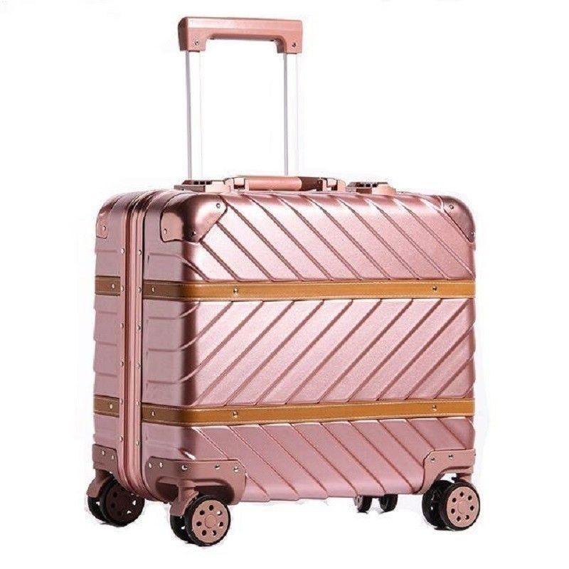 Frauen Envio gratis Und Reisetasche Cabina Maleta Trolley Carro Mala Viagem Aluminium Legierung Rahmen Koffer Gepäck 16