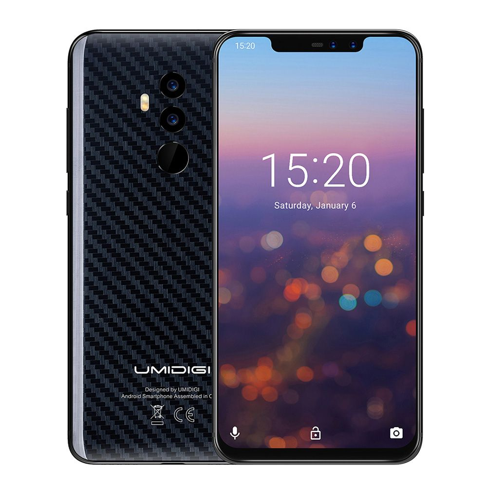 UMIDIGI Z2 PRO 4G Phablet 6.2 inch Android 8.1 Helio P60 Octa Core 6GB + 128GB Full Screen Face ID Global Band