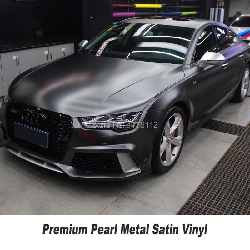 Höchste qualität matte metallic Dark platin wrapping film perle metall titanium folie für high-end-auto adhesive vinyl multicolor