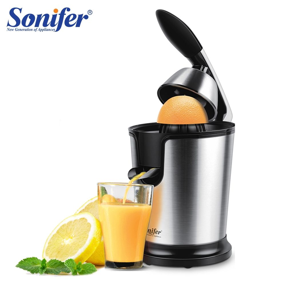 Stainless steel Orange 160W Lemon electric set juicers aluminum die -casting handle Household Low power Sonifer