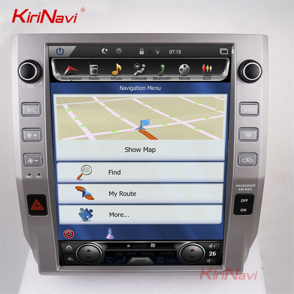 KiriNavi Vertical Screen Tesla Style 12.1 Inch android 7.1 Touch Screen Car Radio For Toyota Tundra GPS Navigation Bluetooth