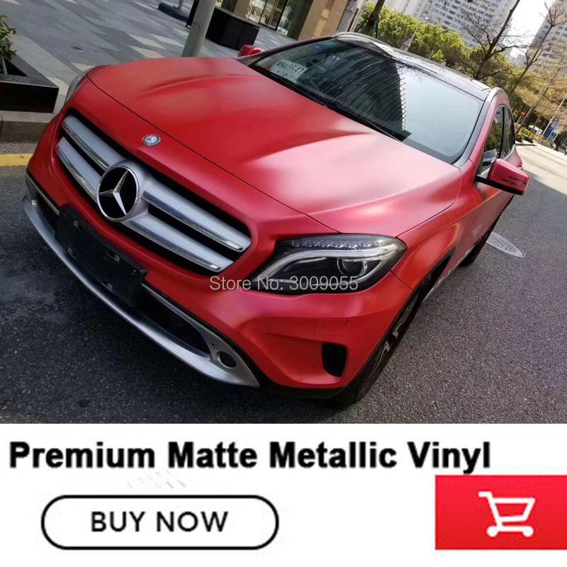 Beste qualität Mmatte metallic red Vinyl wrapping film Auto Wrap Luftblase Frei Für Fahrzeug für Hohe-grade serie