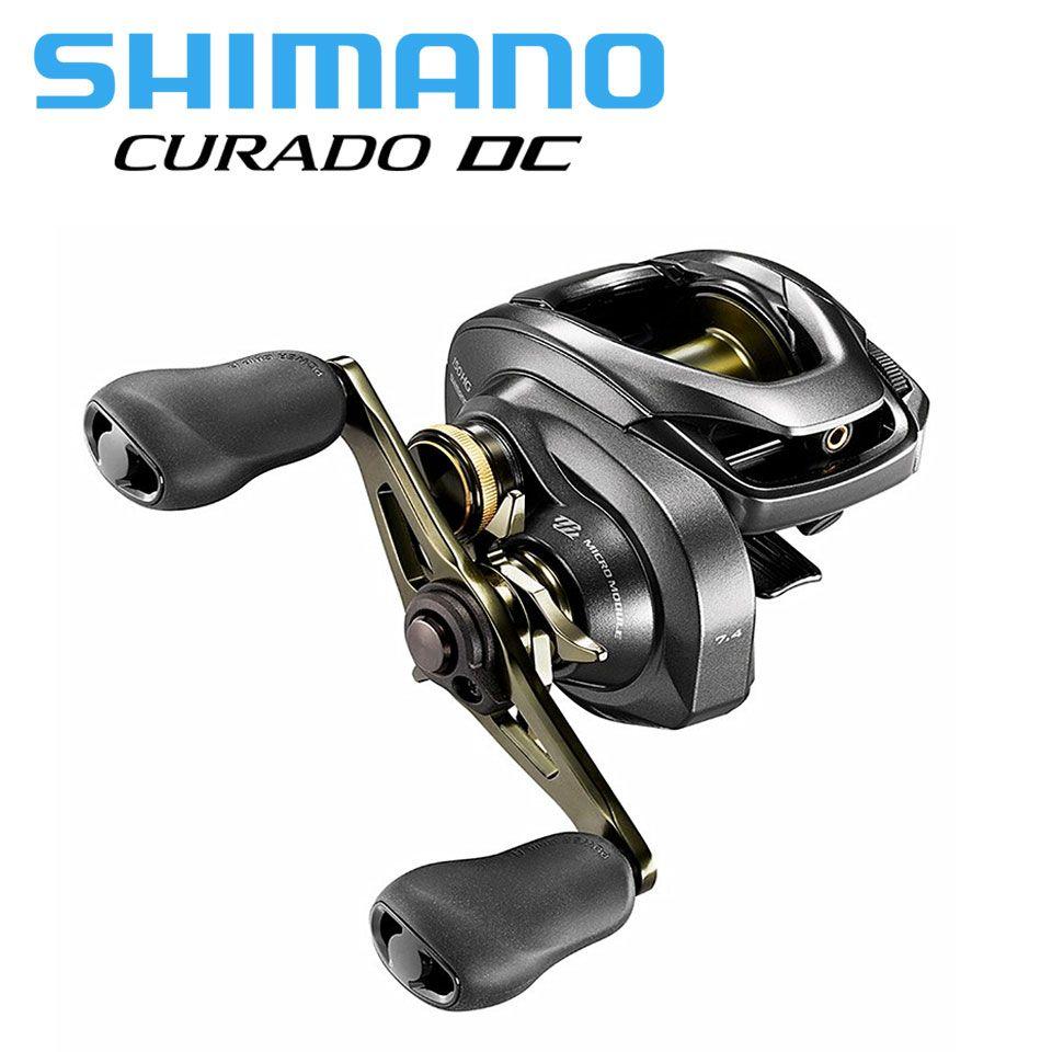 SHIMANO CURADO DC angeln reel Baitcaster 6,2: 1/7. 4:1/8,5: 1 6 + 1BB 5 kg Power I-DC4 System festigkeit körper Glatt licht baitcasting