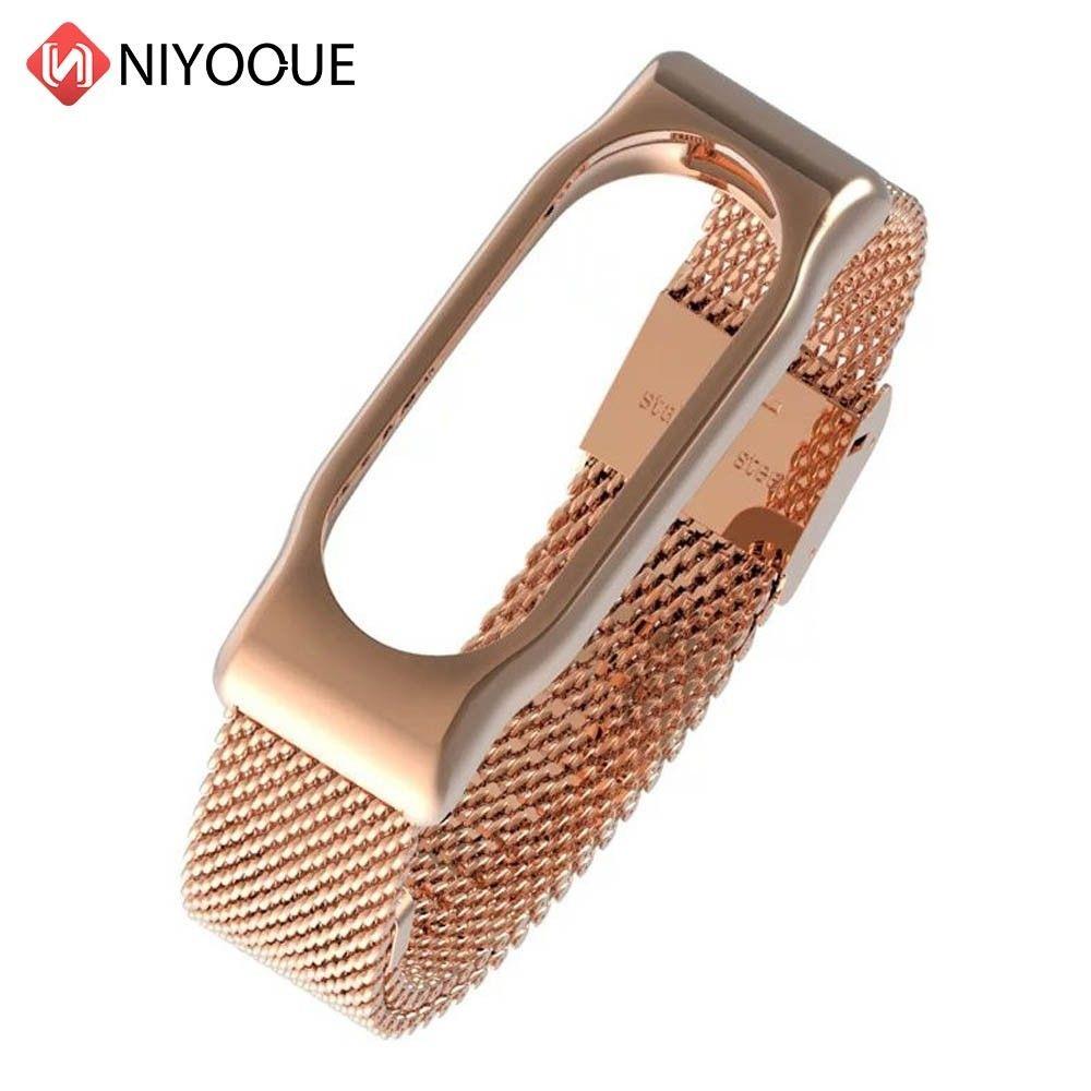 Bracelet en métal pour Xiao mi Band 2 Bracelet en acier inoxydable sans vis pour mi Band 2 bracelets remplacent les accessoires mi Band 2