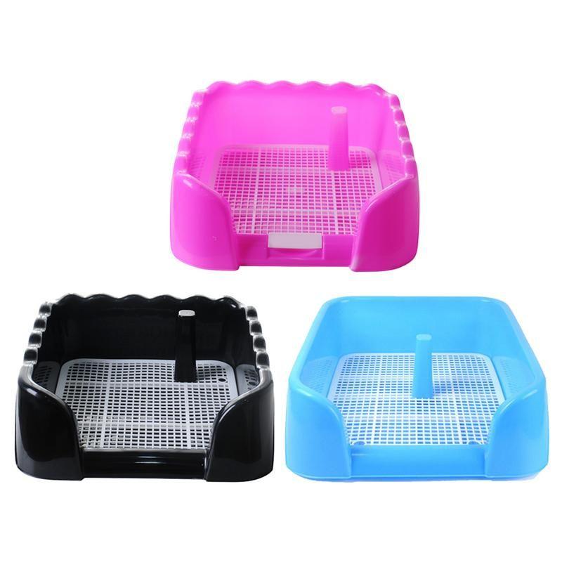 Support pour ipad de formation de chiot de plateau de toilette portatif d'animal familier avec le poteau de pipi de barrière pour le produit de pot d'animal familier facile propre de petite taille moyenne