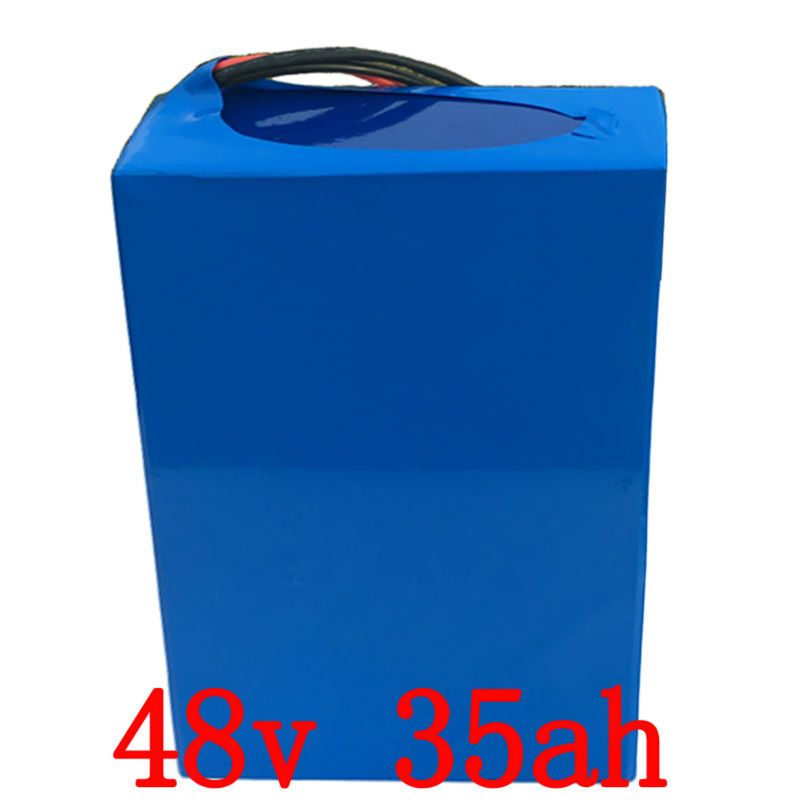 EU US NO Tax 48V 35AH electric Bike Battery 48V 1500W Lithium Battery Pack for 48V Electric Bike with 30A BMS and 54.6V Charger