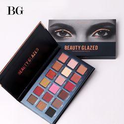 Kecantikan Mengkilap Eyeshadow Pallet Tahan Lama Memakai Make Up Mata Bayangan Pallet Alami Bercahaya Matte Shimmer 18 Warna Maquiagem
