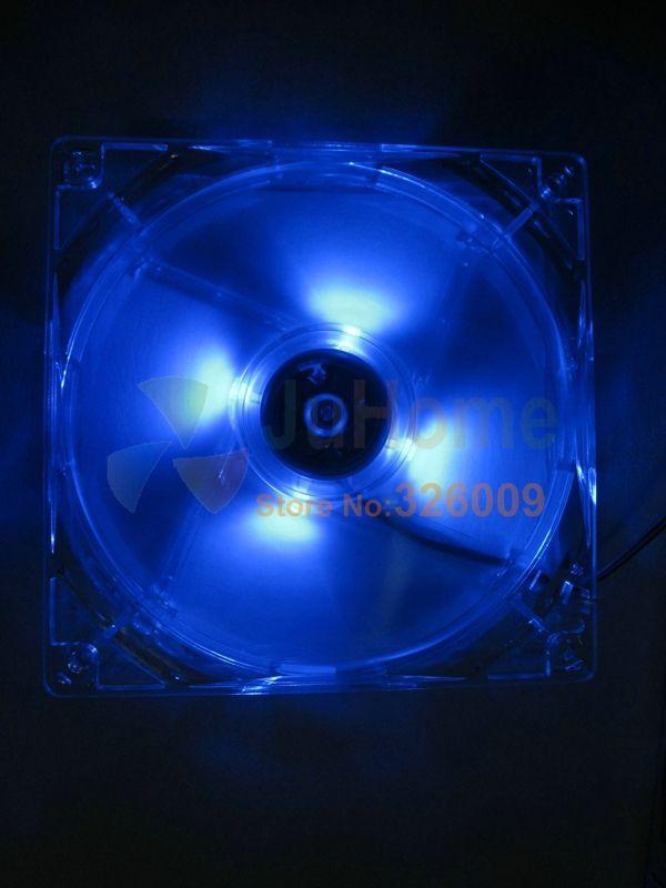Arsylid high quality 12cm 120mm 8cm 9cm LED fan blue color LED light cooling fan for computer case