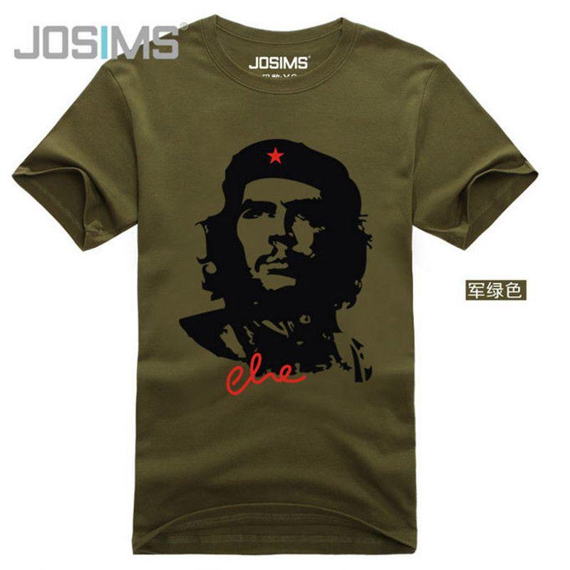 Chemises homme coton décontracté mode CHE GUEVARA manches courtes hommes haute qualité respirant été imprimé T-Shirt Camisetas A835