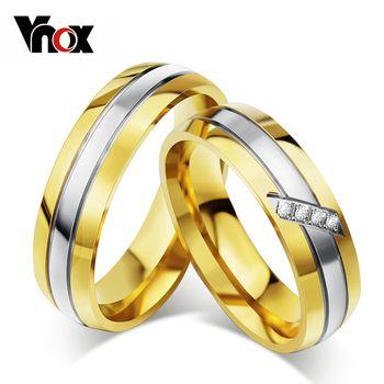Anéis para casais para casamento romântico, joalharia CZ para homem e mulher, anel de promessa em ouro, promoção única de anéis, moda de 2014