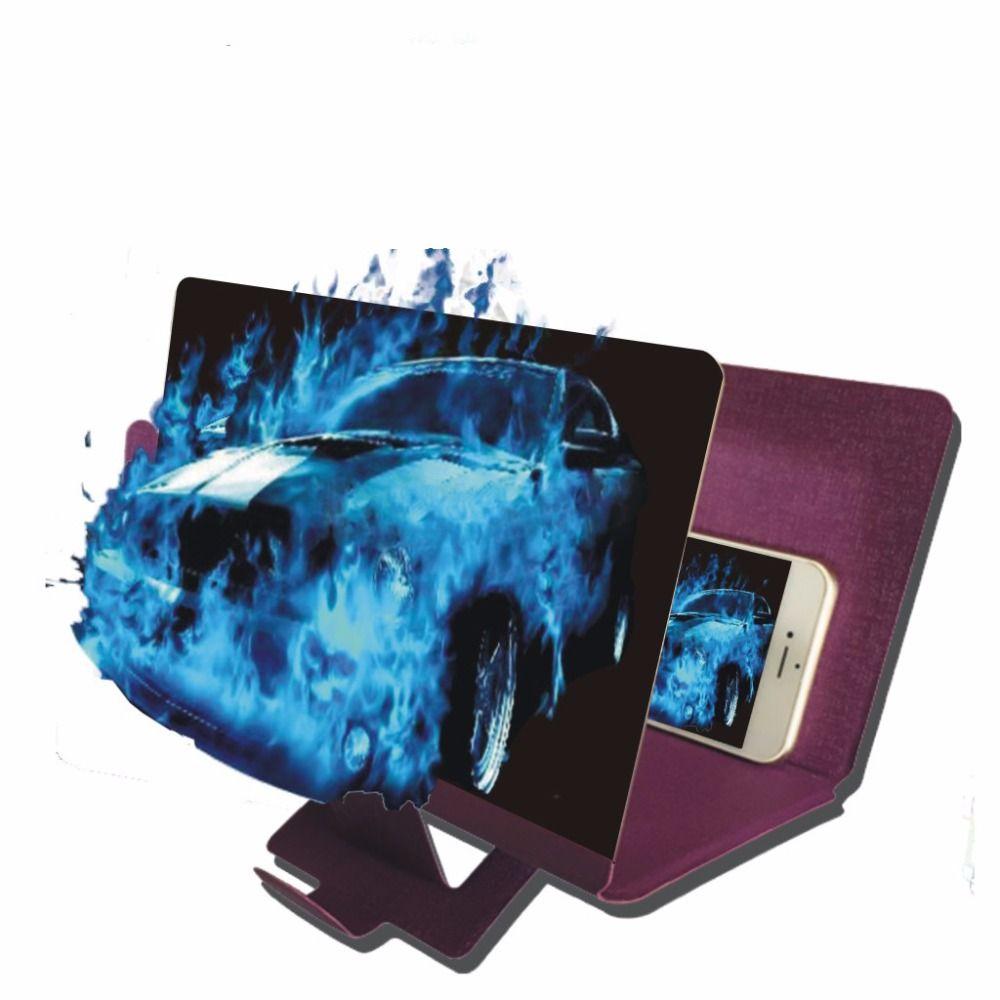 EYESHOT Universel Pliable Portable Verre Organique Mobile Téléphone Écran Loupe Support Agrandir Avec Stand Pour iPhone Téléphones 3X