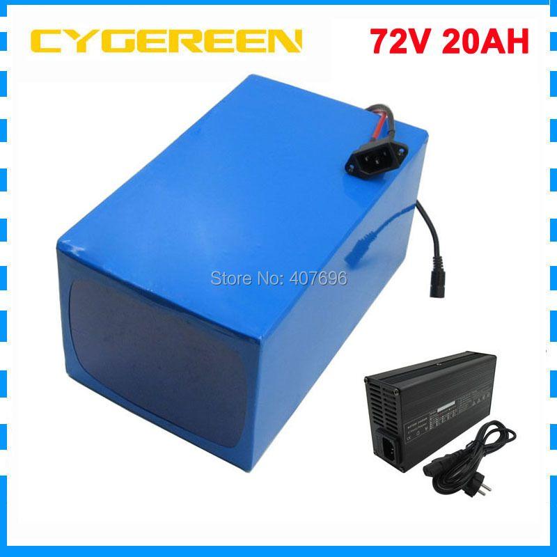 2500 W 72 V 20AH Elektrische fahrrad batterie 72 V 20AH Lithium-ionen batterie 72 V Batterie pack 3,7 V 5000 MAH 26650 Zelle 40A BMS Freies steuern
