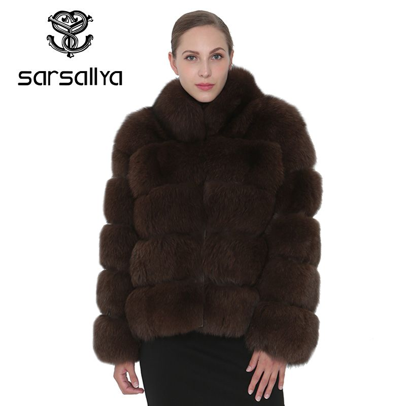 SARSALLYA Real Fox Fur Coat Women Natural Real Fur CoatsJackets Vest Mink Winter Coat Fox Fur Outerwear Clothes