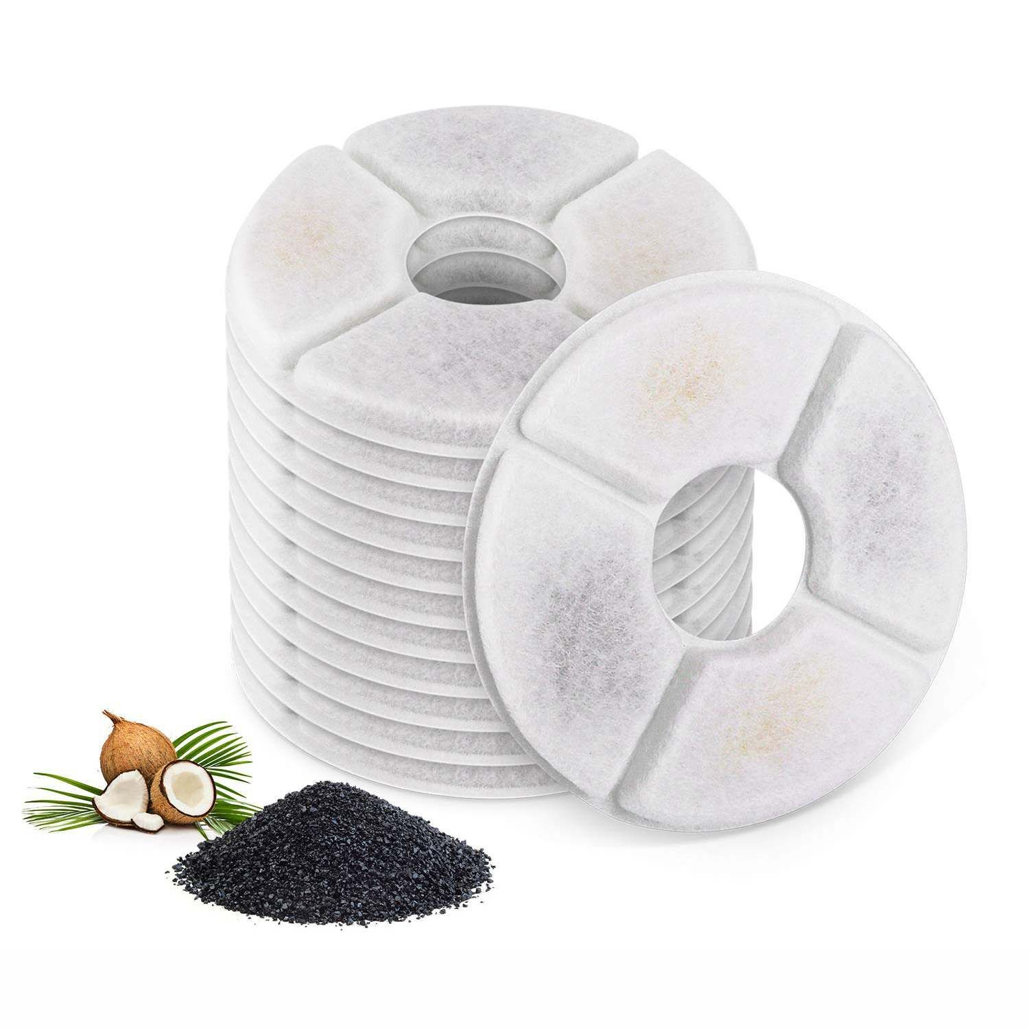 Filters For Cat Fountain-Pack Of 12, Cat Fountain Filters, Suitable For The Flower Fountains And Most Same Size Cat Fountains.