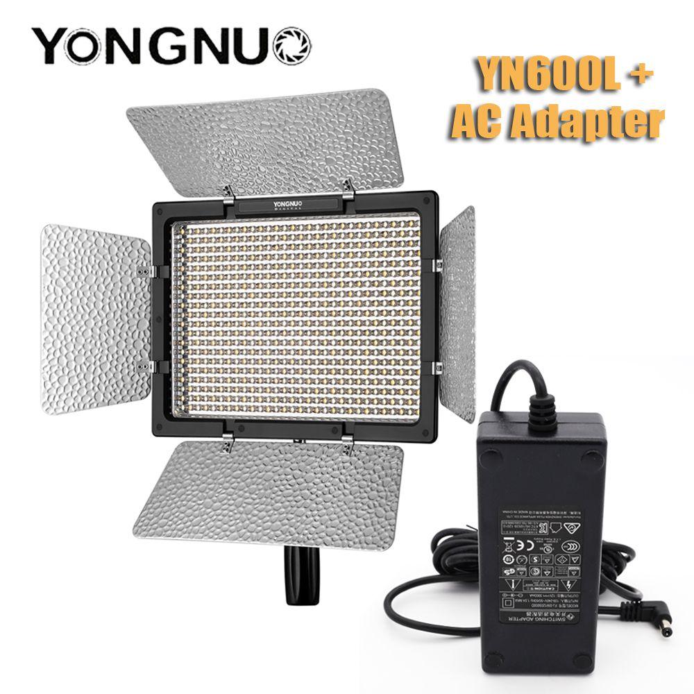 YONGNUO YN600L YN600 L 600 LED lumière vidéo avec panneau adaptateur secteur LED lumières de photographie sans fil 2.4G télécommande APP