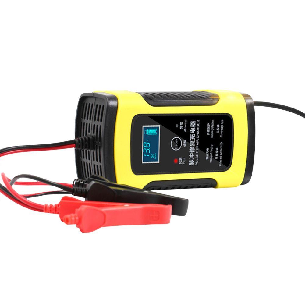Chargeur de batterie de voiture de Moto 12 V 6A chargeur de stockage d'acide de plomb de réparation entièrement Intelligent affichage LCD de Moto Intelligent