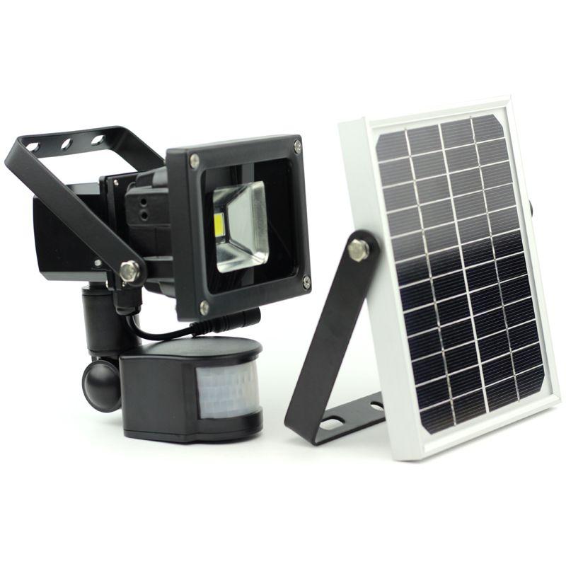 10W souper led lumière de sécurité capteur de mouvement solaire lumière de nuit haute-basse puissance dimmable allumer/éteindre automatiquement