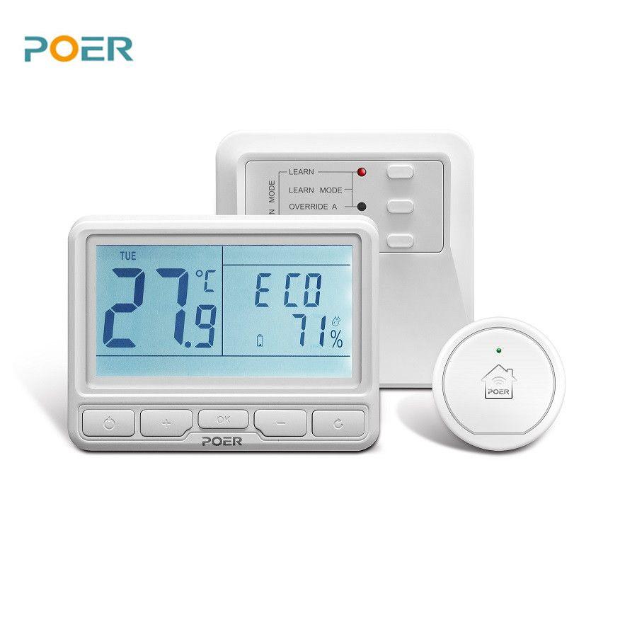 Thermorégulateur programmable sans fil chambre numérique wifi thermostat pour chaudière, plancher chaud, l'eau de chauffage contrôlé avec téléphone
