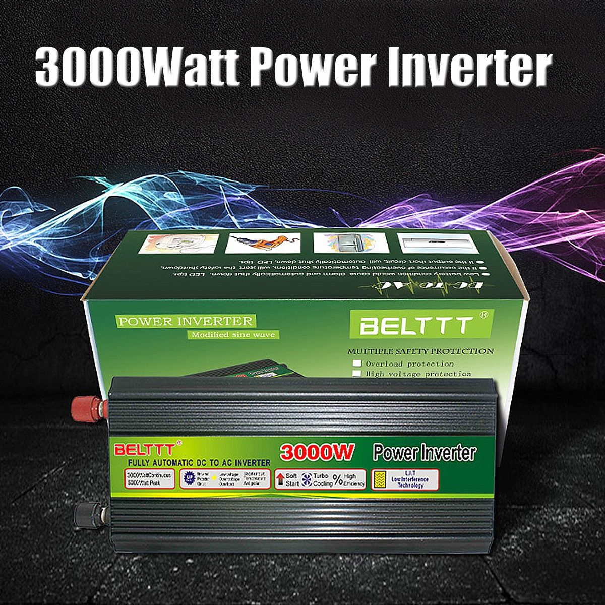 3000W 6000W Max DC12V/24V to AC220V Modified sine wave Power Inverter + Charger & UPS for Solar/Wind for Car Inverters