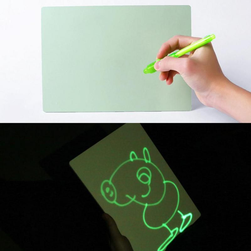 PVC A4 Draw with Light in Darkness Children's Sketchpad Toys Luminous Drawing Board