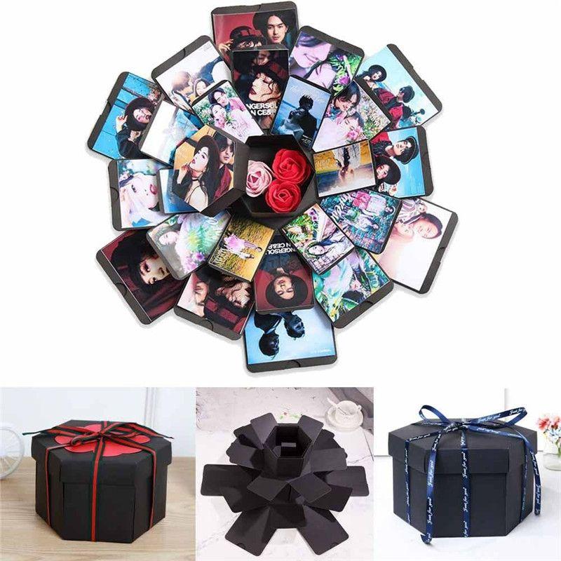Bricolage Surprise amour Explosion boîte cadeau Explosion pour anniversaire Scrapbook bricolage Photo Album saint valentin mariage anniversaire cadeau