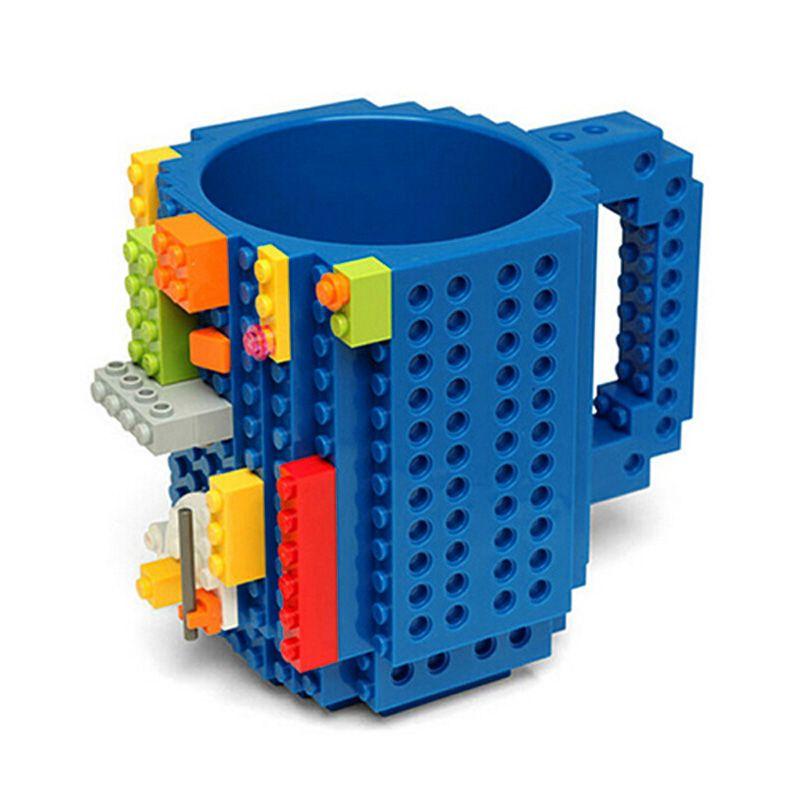 350ml Creative Milk Mug Coffee Cup LEGO Building Blocks Design Build-on Brick Mug Cups Drinking Water Holder