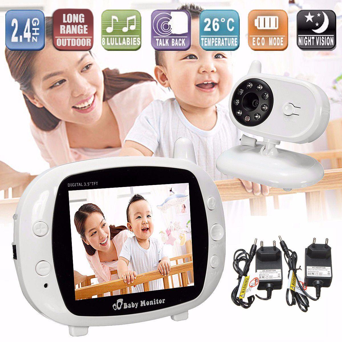 2,4g Wireless Digital 3,5 LCD Baby Monitor Kamera 2 Weg Audio Sprechen Video Nachtsicht Hause WIFI Nanny sicherheit Temperatur