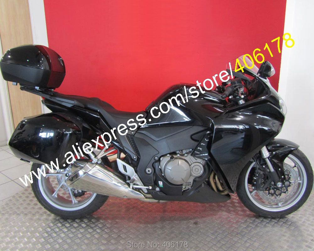 Hot Sales,Sports For Honda VFR1200 2010 2011 2012 2013 VFR 1200 10-13 All Black ABS Motorcycle Fairings set (Injection molding)