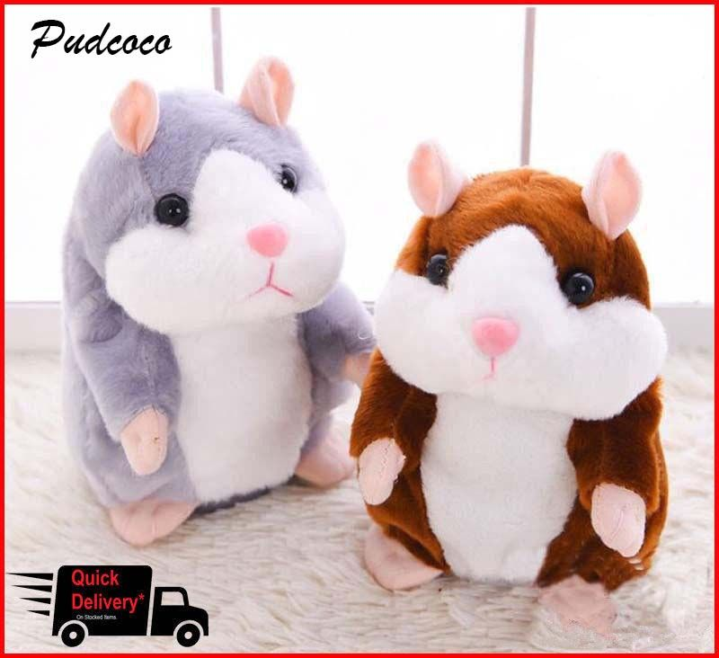 Cheeky Hamster Talking Pet Soft Toy Cute Sound 2018 Christmas Kid Gift High Quality