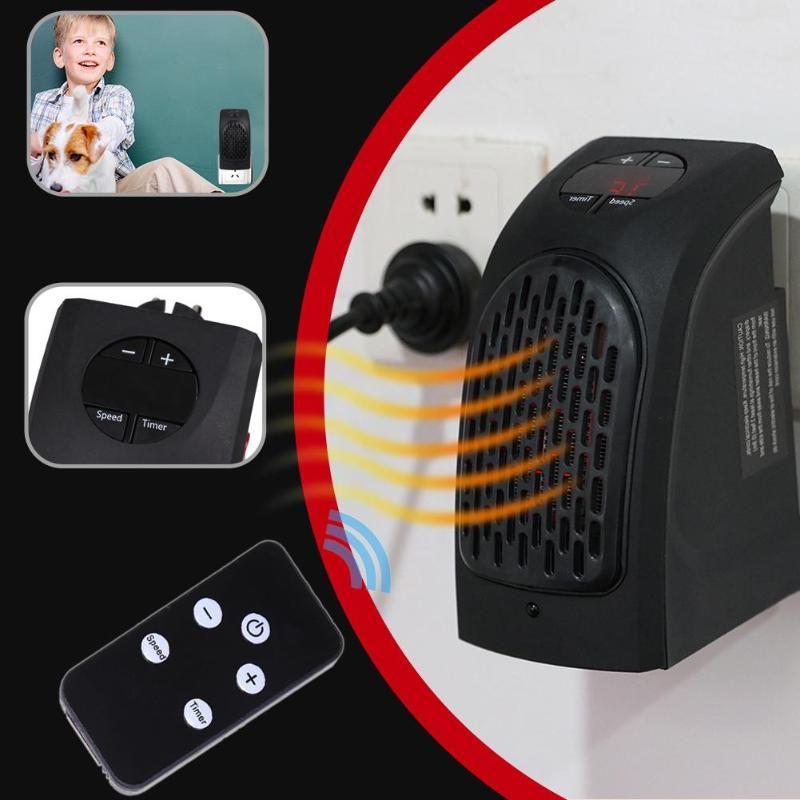 400 W Mini Heizlüfter Elektrische Wand Wärmer mit Fernbedienung Schlafen Innen Heizung 2 Modi Einstellbar Mit Fernbedienung
