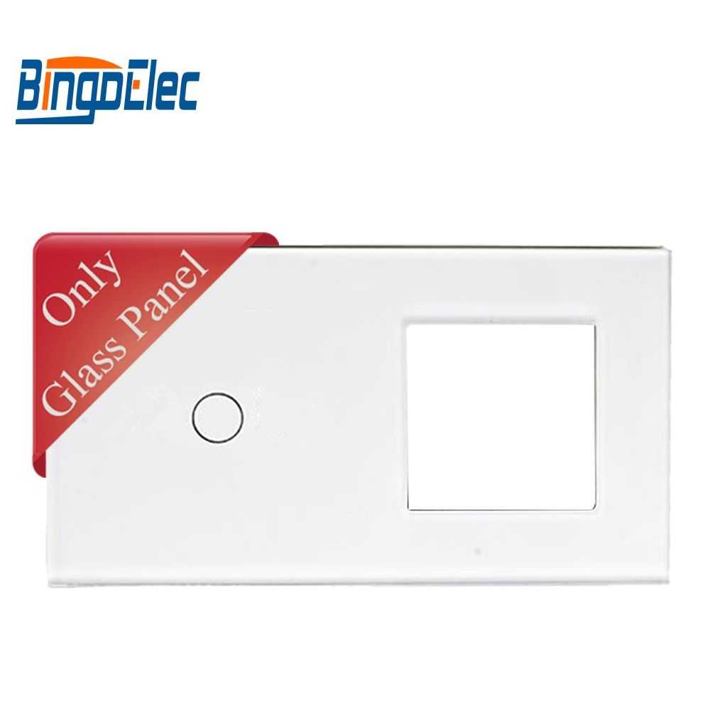 Toughened Glass switch panel and socket frame, 86*157mm, 1gang touch switch panel and frame,Hot sale